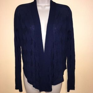 Title Nine 100% Washable Wool Thin Knit Cardigan S